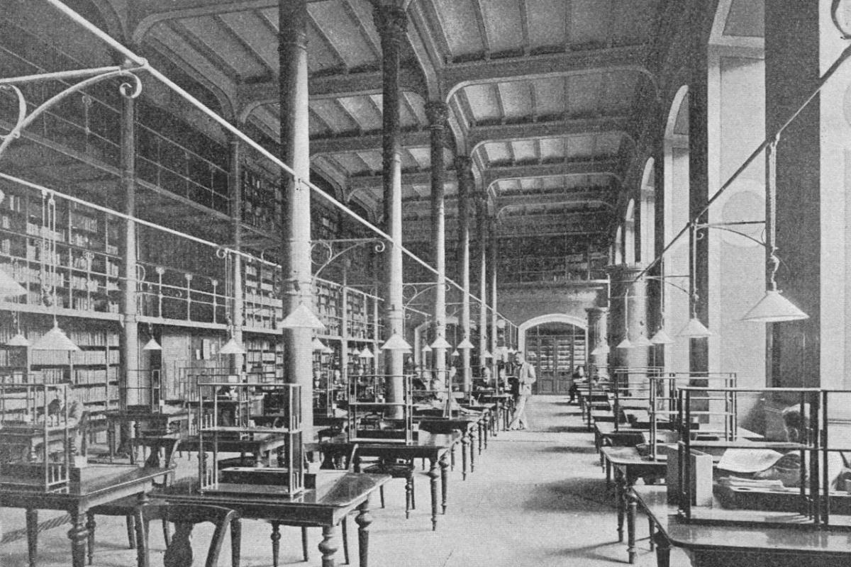 Kungliga biblioteket läsesalen